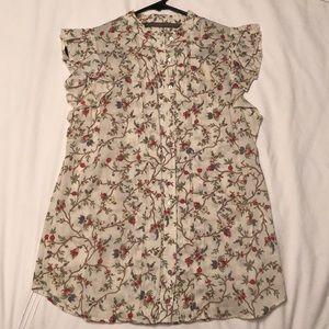 Zara Floral Top. Size S